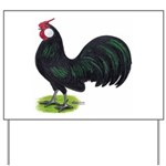 Rosecomb Rooster Yard Sign