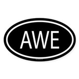 AWE Oval Decal