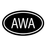 AWA Oval Decal