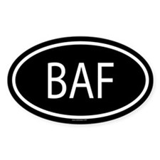 BAF Oval Decal