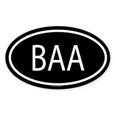 BAA Oval Decal