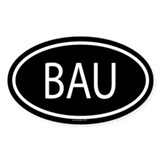BAU Oval Decal