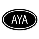AYA Oval Decal