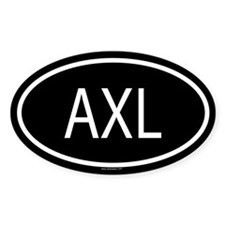 AXL Oval Decal