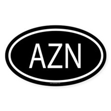 AZN Oval Stickers