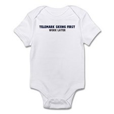 Telemark Skiing First Infant Bodysuit