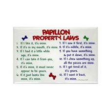 Papillon Property Laws 2 Rectangle Magnet