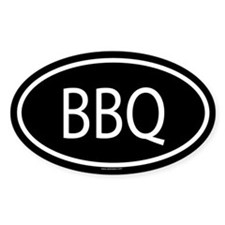 BBQ Oval Decal