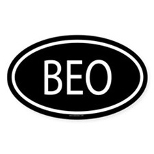 BEO Oval Decal
