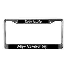 Adopt A Dog License Plate Frame