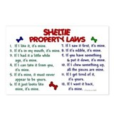 Sheltie Property Laws 2 Postcards (Package of 8)