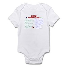 Sheltie Property Laws 2 Infant Bodysuit