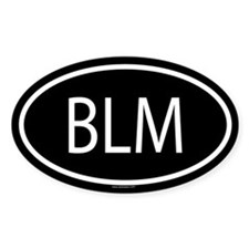 BLM Oval Decal