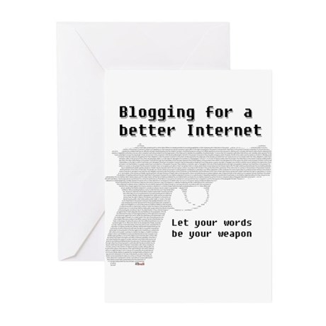 Blog for a better Internet Greeting Cards (Package