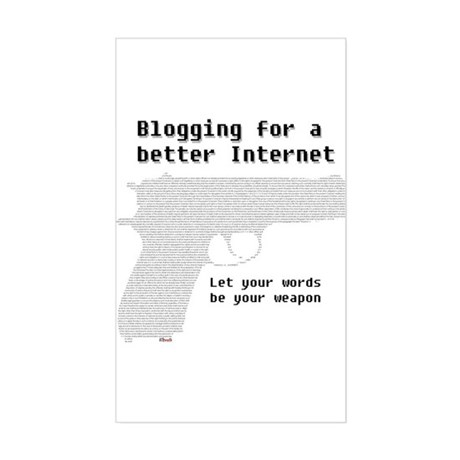 Blog for a better Internet Rectangle Sticker