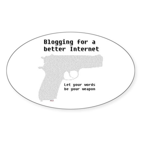 Blog for a better Internet Oval Sticker