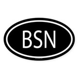 BSN Oval Decal