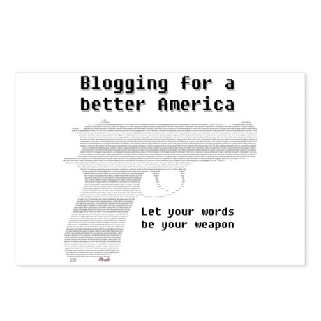 Blog for a better America Postcards (Package of 8)