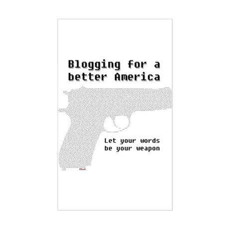Blogging for a better America Sticker (Rectangular