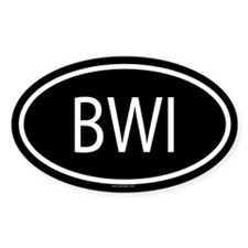 BWI Oval Decal