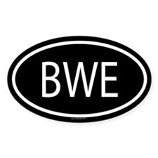 BWE Oval Decal
