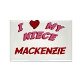 I Love My Niece Mackenzie Rectangle Magnet