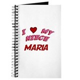 I Love My Niece Maria Journal