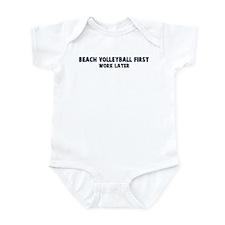 Beach Volleyball First Infant Bodysuit