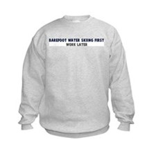Barefoot Water Skiing First Jumper Sweater