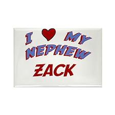 I Love My Nephew Zack Rectangle Magnet