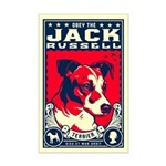 Obey the Jack Russell! Mini Poster Print