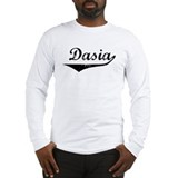 Dasia Vintage (Black) Long Sleeve T-Shirt