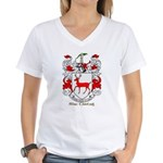 Mc/Mac Carthy Coat of Arms Women's V-Neck T-Shirt