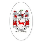 Mc/Mac Carthy Coat of Arms Oval Sticker