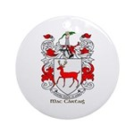 Mc/Mac Carthy Coat of Arms Ornament (Round)