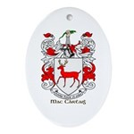 Mc/Mac Carthy Coat of Arms Oval Ornament