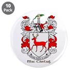 "Mc/Mac Carthy Coat of Arms 3.5"" Button (10 pack)"