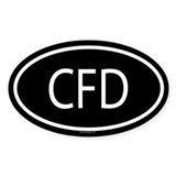 CFD Oval Decal