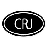 CRJ Oval Decal