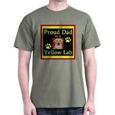 Proud Dad 2 A Yellow Lab T-Shirt