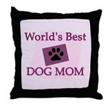 World's Best Dog Mom Throw Pillow