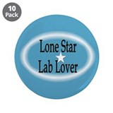 "Lone Star Lab Lover 3.5"" Button (10 pack)"