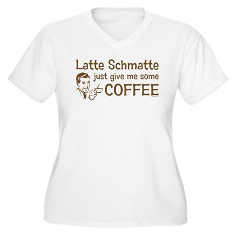 Latte Schmatte Women's Plus Size V-Neck T-Shirt