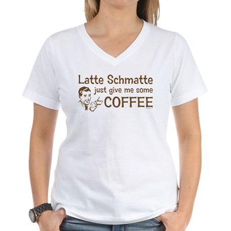 Latte Schmatte Women's V-Neck T-Shirt