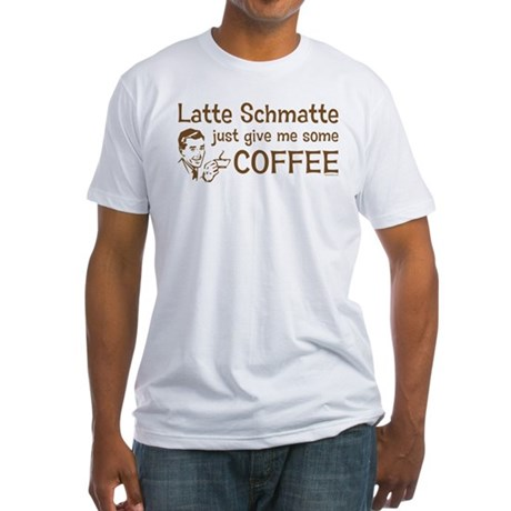 Latte Schmatte Fitted T-Shirt