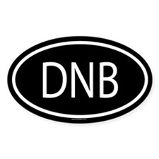 DNB Oval Decal