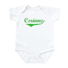 Corinne Vintage (Green) Infant Bodysuit