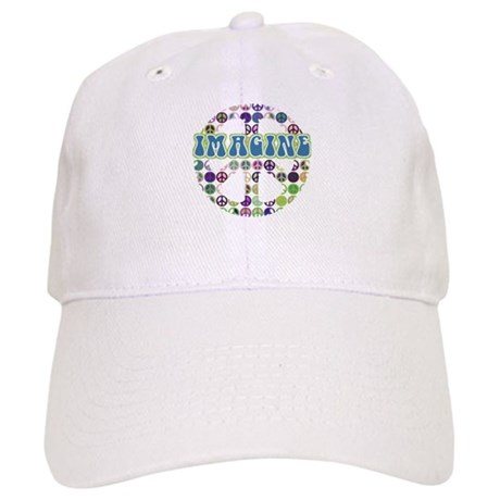 Retro Peace Sign Imagine Cap