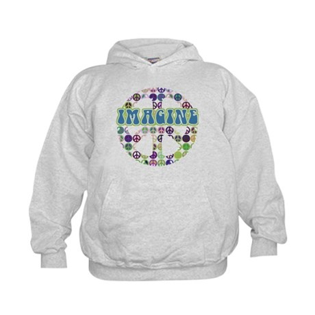Retro Peace Sign Imagine Kids Hoodie