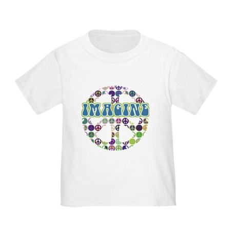 Retro Peace Sign Imagine Toddler T-Shirt